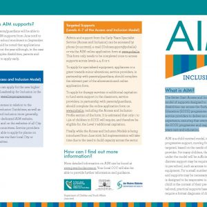 Better Start Access and Inclusion Model (AIM)