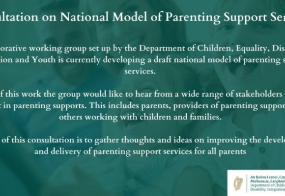 Public consultation on the development of a national model of parenting support services